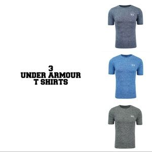 Under armour set of 3 t shirts